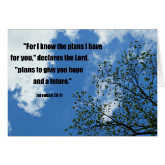 Jeremiah 29:11 For I know the plans I have for you Greeting Card