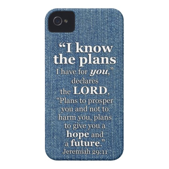 Jeremiah 29:11 I Know The Plans Bible Verse Case-Mate iPhone 4 Cases