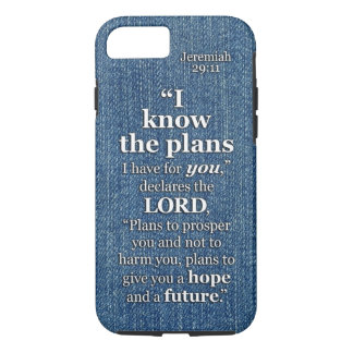 Jeremiah 29:11 I Know The Plans Bible Verse Quote iPhone 7 Case