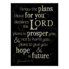 Jeremiah 29:11 I know the plans I have for you... Poster