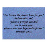 jeremiah 29-11 postcard