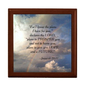 Jeremiah 29:11 Rainbow Jewelry Box