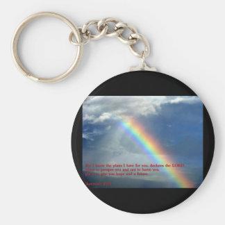 Jeremiah 29 11 Rainbow Key Chain