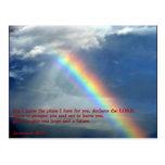 Jeremiah 29:11 Rainbow Postcard