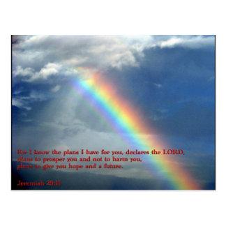 Jeremiah 29:11 Rainbow Post Card