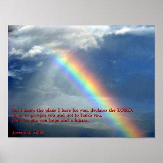 Jeremiah 29:11 Rainbow Posters