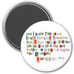 Jeremiah 29:11 Ransom Note Round Magnet