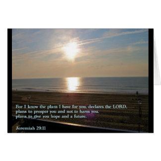 Jeremiah 29:11 Sunrise Greeting Card