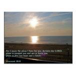 Jeremiah 29:11 Sunrise Postcard