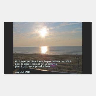 Jeremiah 29:11 Sunrise Rectangular Sticker