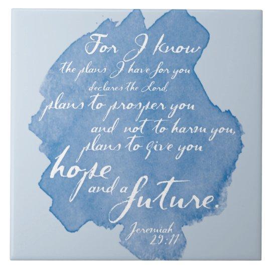 Jeremiah 29:11 Tile Art, Bible Verse Home Decor