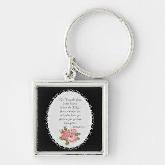 Jeremiah 29:11 Victorian Christian Gift Key Ring
