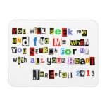 Jeremiah 29:13 Ransom Note Style Magnets