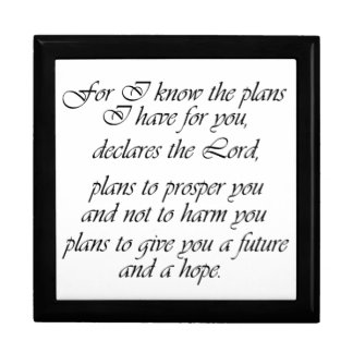 Jeremiah 29 Scripture Future & Hope Gift Box
