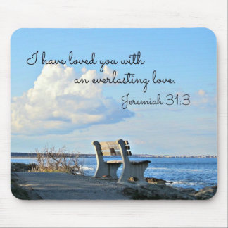 Jeremiah 31:3 I have loved you with an everlasting Mouse Mat