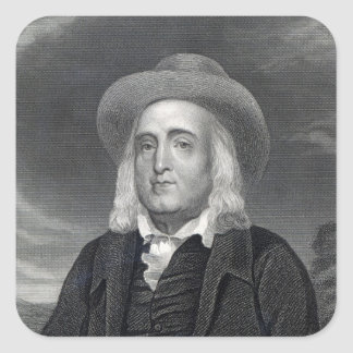 Jeremy Bentham  from 'Gallery of Portraits' Square Sticker