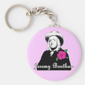 Jeremy Bentham with Tropical Flower Keychain