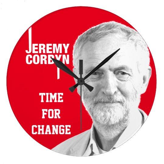 jeremy corbyn clock square customisable round