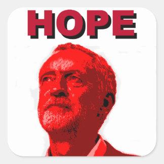 Jeremy Corbyn Hope Square Sticker