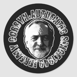 JEREMY CORBYN STICKER BLACK