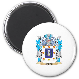 Jerez Coat of Arms - Family Crest 6 Cm Round Magnet