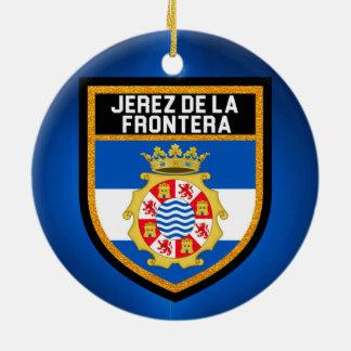 Jerez de la Frontera Flag Christmas Ornament