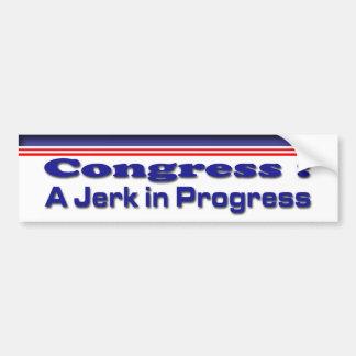 Jerk in Progress Bumper Stickers