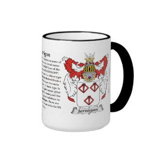 Jernigan Family Coat of Arms Ringer Coffee Mug