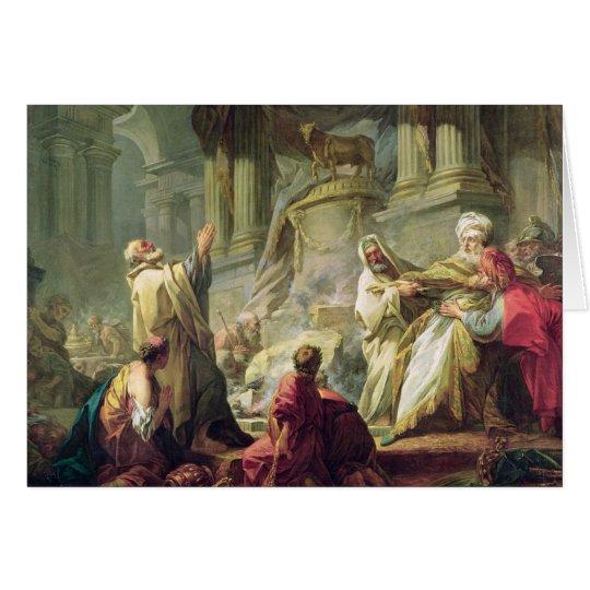 Jeroboam Sacrificing to the Golden Calf, 1752 Card
