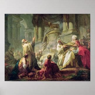 Jeroboam Sacrificing to the Golden Calf 1752 Print