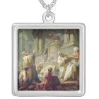 Jeroboam Sacrificing to the Golden Calf, 1752 Silver Plated Necklace