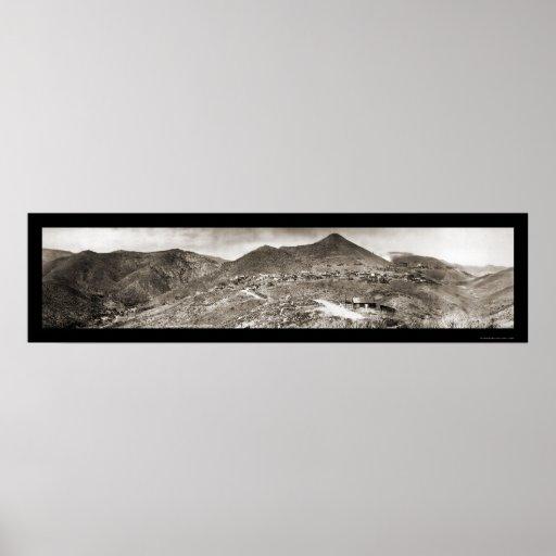 Jerome AZ Mountains Photo 1909 Poster
