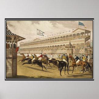 Jerome Park Race 1868 Vintage Poster