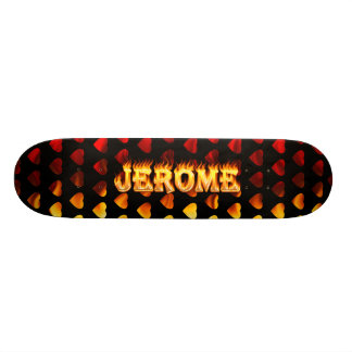Jerome skateboard fire and flames design.