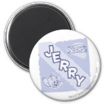 Jerry Blue Cheese Logo Magnets