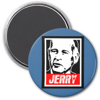 JERRY BROWN 7.5 CM ROUND MAGNET