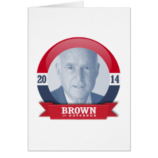 JERRY BROWN CAMPAIGN GREETING CARD