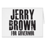 Jerry Brown For Governor 2010 Greeting Cards