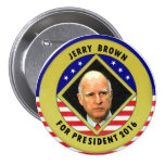 Jerry Brown for President 2016 7.5 Cm Round Badge