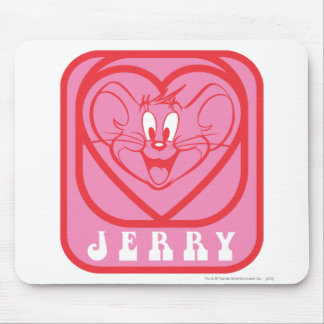 Jerry Pink Hearts Mouse Mat