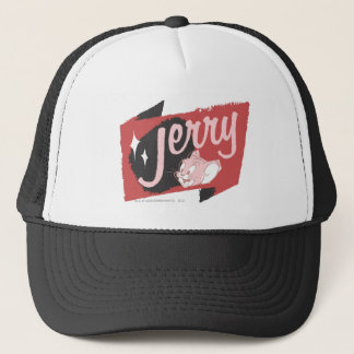 Jerry Red and Black Logo Trucker Hat
