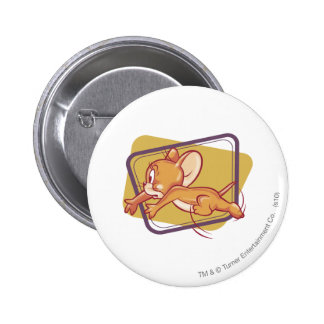 Jerry Running Scared 6 Cm Round Badge