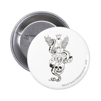 Jerry Twisted Tattoo 1 6 Cm Round Badge