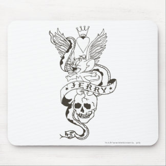 Jerry Twisted Tattoo 1 Mouse Pad