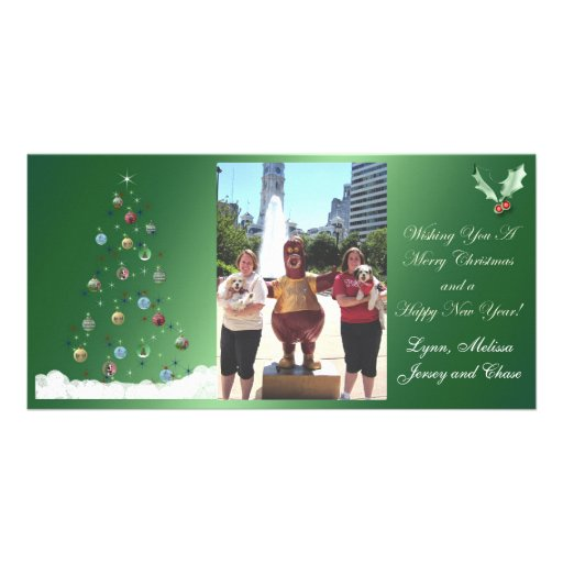 Jersey and Chase Merry Christmas Custom Photo Card