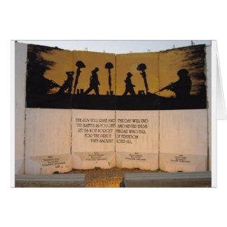 Jersey Barrier Memorial/Garfield Quote Greeting Card