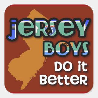 Jersey Boys Do It Better Square Sticker
