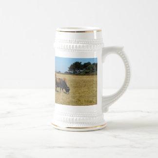 Jersey calves and young bull coffee mug
