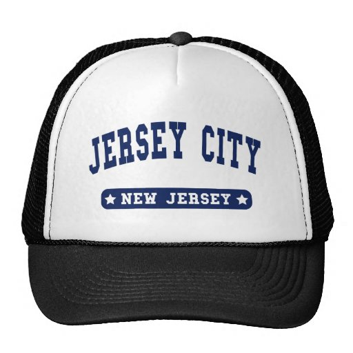 Jersey City New Jersey College Style tee shirts Trucker Hats