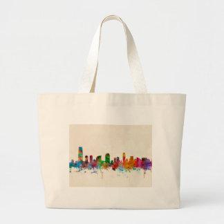 Jersey City New Jersey Skyline Tote Bag